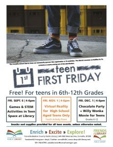 Fall Teen First Friday Events