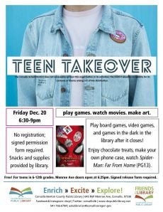 Teen Takeovers at Corvallis Public Library