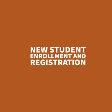 New student enrollment and registration
