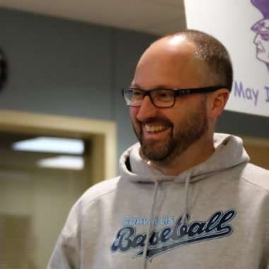 Corvallis High School principal Matt Boring