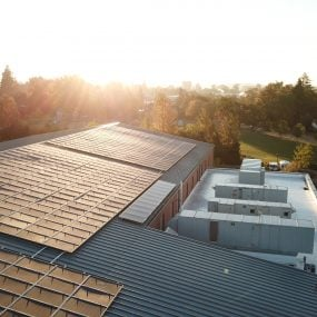 rooftop solar panels at Corvallis High