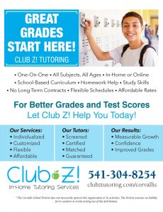 Club Z Tutoring Corvallis