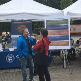 Superintendent Noss at Farmer's Market for community outreach