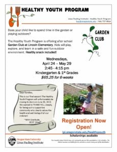 Lincoln Garden Club - For Lincoln Students in Grades K-1