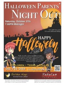 Halloween Parents Night out flyer