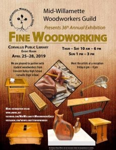 Mid-Willamette Woodworkers Guild (MWWG) Annual Exhibition of Fine Woodworking