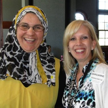 Mirvana Mahmoud & Marcianne Rivero Koetje - classified staff