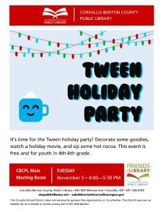 Tween Holiday Party