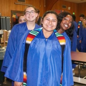 Close up of Biliteracy graduates
