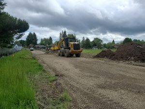 Lincoln New access road under construction