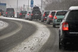 photo of winter driving conditions
